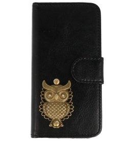 MP Case Apple iPhone 5 / 5s /  SE zwart hoesje uil brons