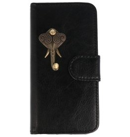 MP Case Apple iPhone 5 / 5s /  SE zwart hoesje olifant brons