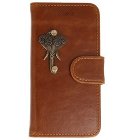 MP Case Apple iPhone 5 / 5s /  SE bruin hoesje olifant brons
