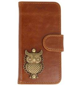 MP Case Apple iPhone 5 / 5s /  SE bruin hoesje uil brons