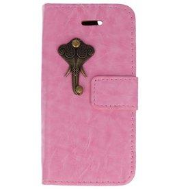 MP Case Apple iPhone 5 / 5s /  SE roze hoesje olifant brons