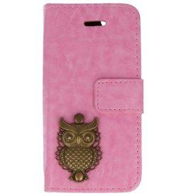MP Case Apple iPhone 5 / 5s /  SE roze hoesje uil brons