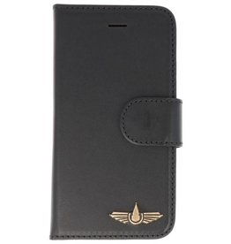 Galata Genua leder iPhone 5 / 5s / SE hard case zwart