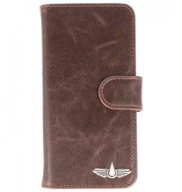 Galata Antiek look booklet Sony Xperia XA1 Plus pu leder bruin