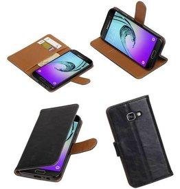 Merkloos Zwart Samsung Galaxy A3 (2017) vintage bookcase wallet Telefoonhoesje