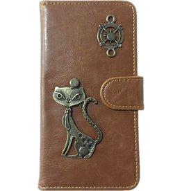 MP Case Mystiek bookcase Samsung Galaxy S9 PU Leder bruin kat