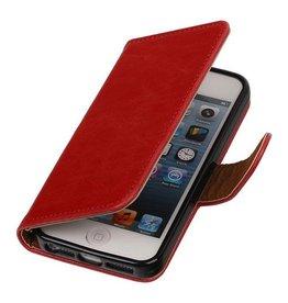 MP Case Lederlook bookcase Apple iPhone 5 5S SE