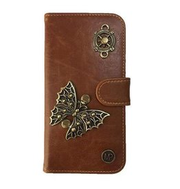 MP Case Mystiek bookcase Samsung Galaxy S9 PU Leder bruin Vlinder