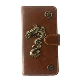 MP Case Mystiek bookcase Samsung Galaxy S9 PU Leder bruin Draak