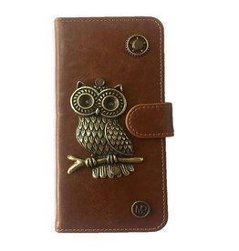 MP Case Mystiek bookcase Samsung Galaxy S9 PU Leder bruin Uil