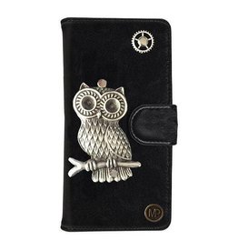 MP Case Mystiek bookcase Samsung Galaxy S9 PU Leder zwart Uil