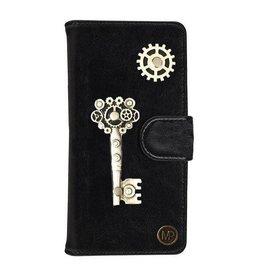 MP Case Mystiek bookcase Samsung Galaxy S9 PU Leder zwart  Key