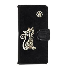 MP Case Mystiek bookcase Samsung Galaxy S9 PU Leder zwart  Poes