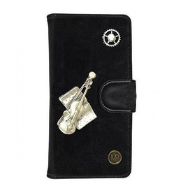 MP Case Mystiek bookcase Samsung Galaxy S9 PU Leder zwart  Viool