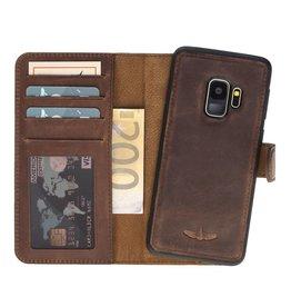 Galata Echt leer 2in1 Samsung Galaxy S9 bookcase Antiek bruin