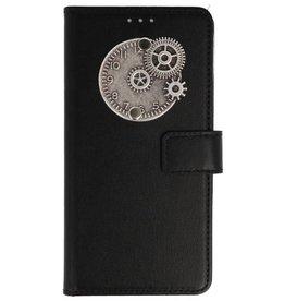 MP Case Huawei P Smart bookcase klok zilver