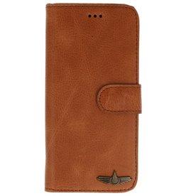 Galata Book case Samsung Galaxy S9+ (Plus) echt leer roestbruin