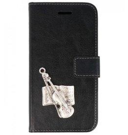 MP Case Huawei P Smart bookcase viool zilver