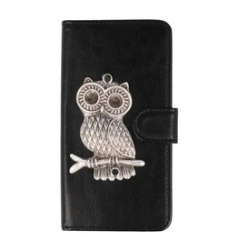 MP Case Huawei P Smart bookcase uil zilver