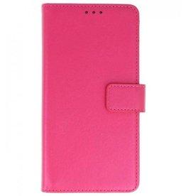 Merkloos LG G7 Basis bookcase roze