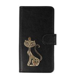 MP Case Sony Xperia XA2  bookcase poesje brons