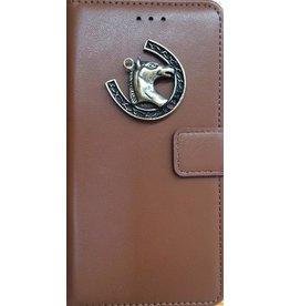 MP Case Bruin Sony Xperia XA2 bookcase paard brons