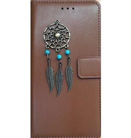 MP Case Bruin Sony Xperia XA2 bookcase dromenvanger brons