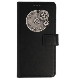 MP Case Samsung Galaxy A8 2018 bookcase klok zilver