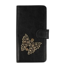 MP Case Samsung Galaxy A8 2018 bookcase vlinder brons