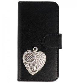 MP Case Sony Xperia XZ2 bookcase hart zilver