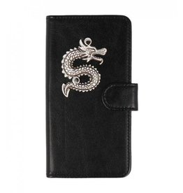 MP Case Sony Xperia XZ2 bookcase draak zilver