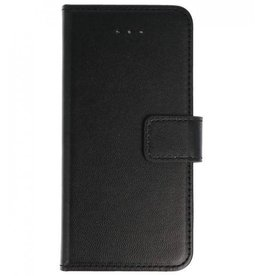 Merkloos Nokia 6 Basis TPU bookcase zwart