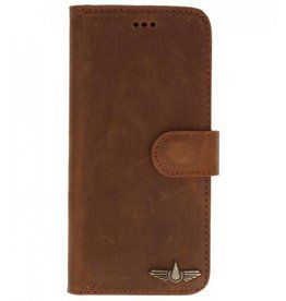 Galata Book case iPhone 6 / 6s echt leer vintage roestbruin