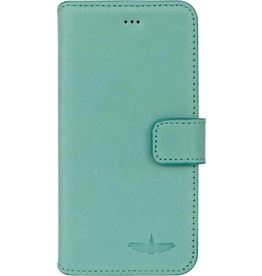 Galata Bookcase iPhone 7 / 8 echt leer turquoise