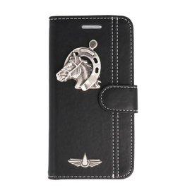 Galata Mystiek lederen iPhone 7 / 8 bookcase paard