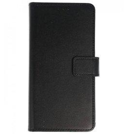 Merkloos Motorola Moto G6+ Plus Basis TPU bookcase zwart