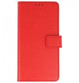 Merkloos Motorola Moto G6 Basis TPU bookcase rood