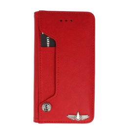 Galata Luxe pasjes booktype  iPhone 6/6s+ Plus rood