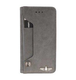 Galata Luxe pasjes booktype  iPhone 7/8+ Plus grijs