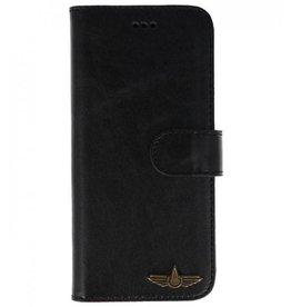 Galata Bookcase Huawei P20 echt leer zwart