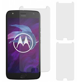 MP Case 3 Stuks Motorola Moto G4+ Plus Tempered Glass Screen Protector