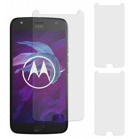 MP Case 3 Stuks Motorola Moto G4+ Plus Tempered Glass Screen Protector