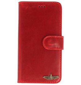Galata Slim Book case Samsung Galaxy J5 (2017) echt leer rood
