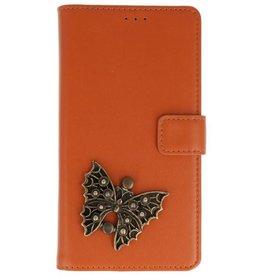 MP Case Huawei Y6 2018 bookcase vlinder brons