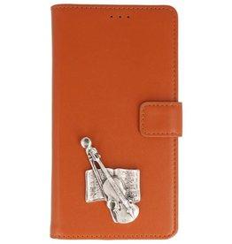 MP Case Bruin Huawei Y6 2018 bookcase viool zilver