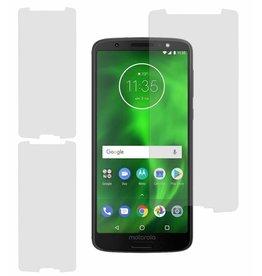 MP Case 3 Stuks Motorola Moto G6+ Plus Tempered Glass Screen Protector