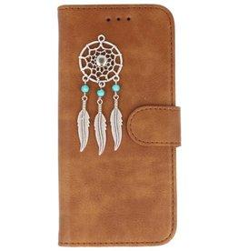 MP Case Bruin Samsung Galaxy S9+ Plus bookcase dromenvanger zilver