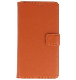 Merkloos Motorola Moto E5 Basis TPU bookcase bruin