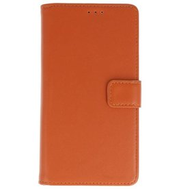 Merkloos Motorola Moto G6+ Plus Basis TPU bookcase bruin