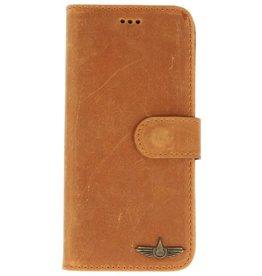 Galata Bookcase Huawei P20 Lite echt leer camel bruin